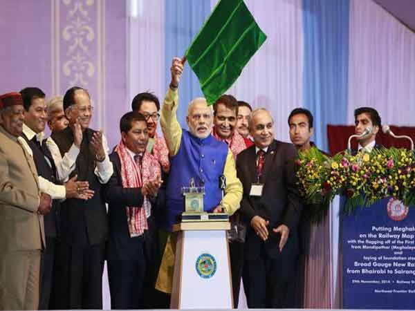Modi-flags-off-train