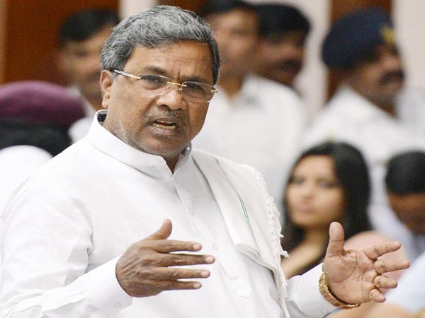C M Siddaramaiah addressing during the Joint session at Vidhana Soudha in Bangalore on Thursday, January 23, 2014.
